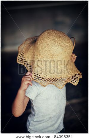 the kid with an hat face