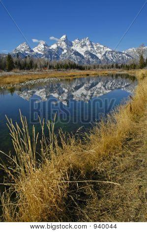 Teton Mountain Range Reflection