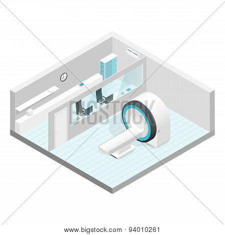 Cabinet Mri Isometric Room Set
