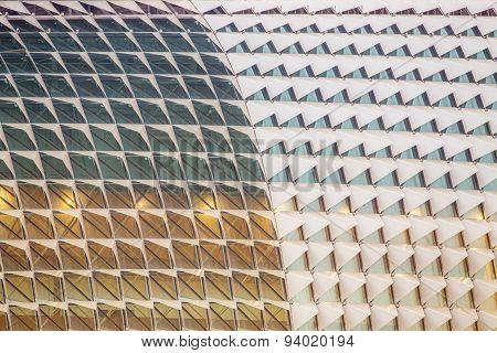 Detail of Singapore esplanade theater