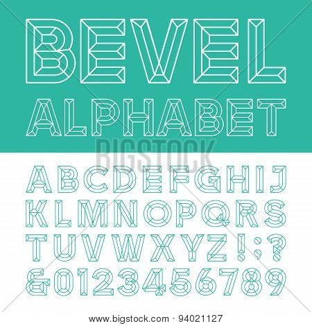 Beveled Alphabet Vector Font.