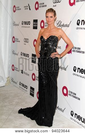 LOS ANGELES - MAR 3:  Heidi Klum at the Elton John AIDS Foundation's Oscar Viewing Party at the West Hollywood Park on March 3, 2014 in West Hollywood, CA
