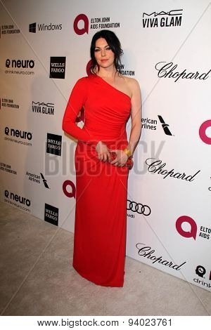LOS ANGELES - MAR 3:  Laura Prepon at the Elton John AIDS Foundation's Oscar Viewing Party at the West Hollywood Park on March 3, 2014 in West Hollywood, CA
