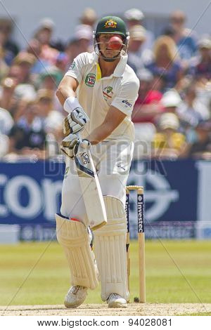 NOTTINGHAM, ENGLAND - July 14, 2013: James Pattinson during day five of the first Investec Ashes Test match at Trent Bridge Cricket Ground on July 14, 2013 in Nottingham, England.