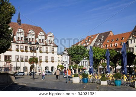 The Ancient Market Square In Naumburg; Saxony-anhalt, Germany