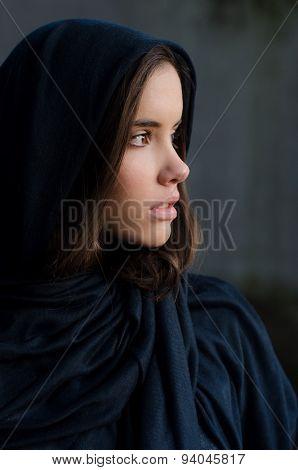 Portrait Of The Beautiful Muslim Girl
