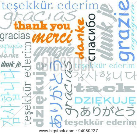 thank you tagcloud -many languages