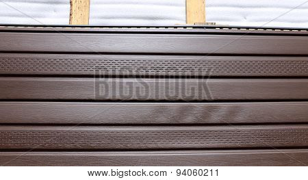 Brown Plastic Siding