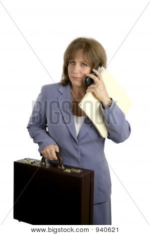 Business Woman - Overworked
