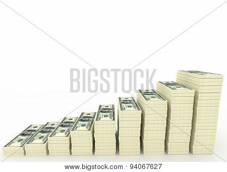 Big Money Stack. Finance Concept