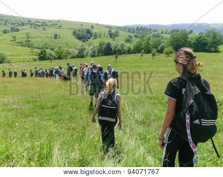 Healthy Hikers People In Nature Hike