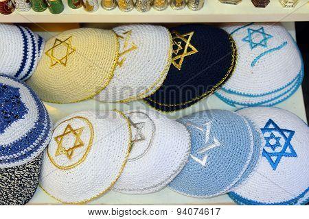 Knitted Jewish Religious Caps (yarmulke)