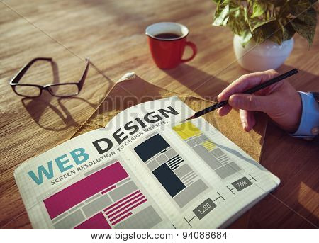 Web Design Network Website Ideas Media Information Concept