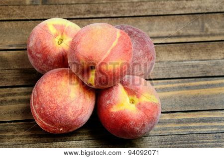 Peaches Fruit On Table