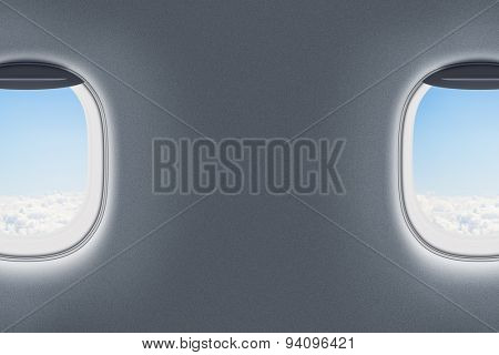airplane or jet windows interior