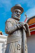 Guardian Statues at Wat Pho (Pho Temple) in Bangkok poster