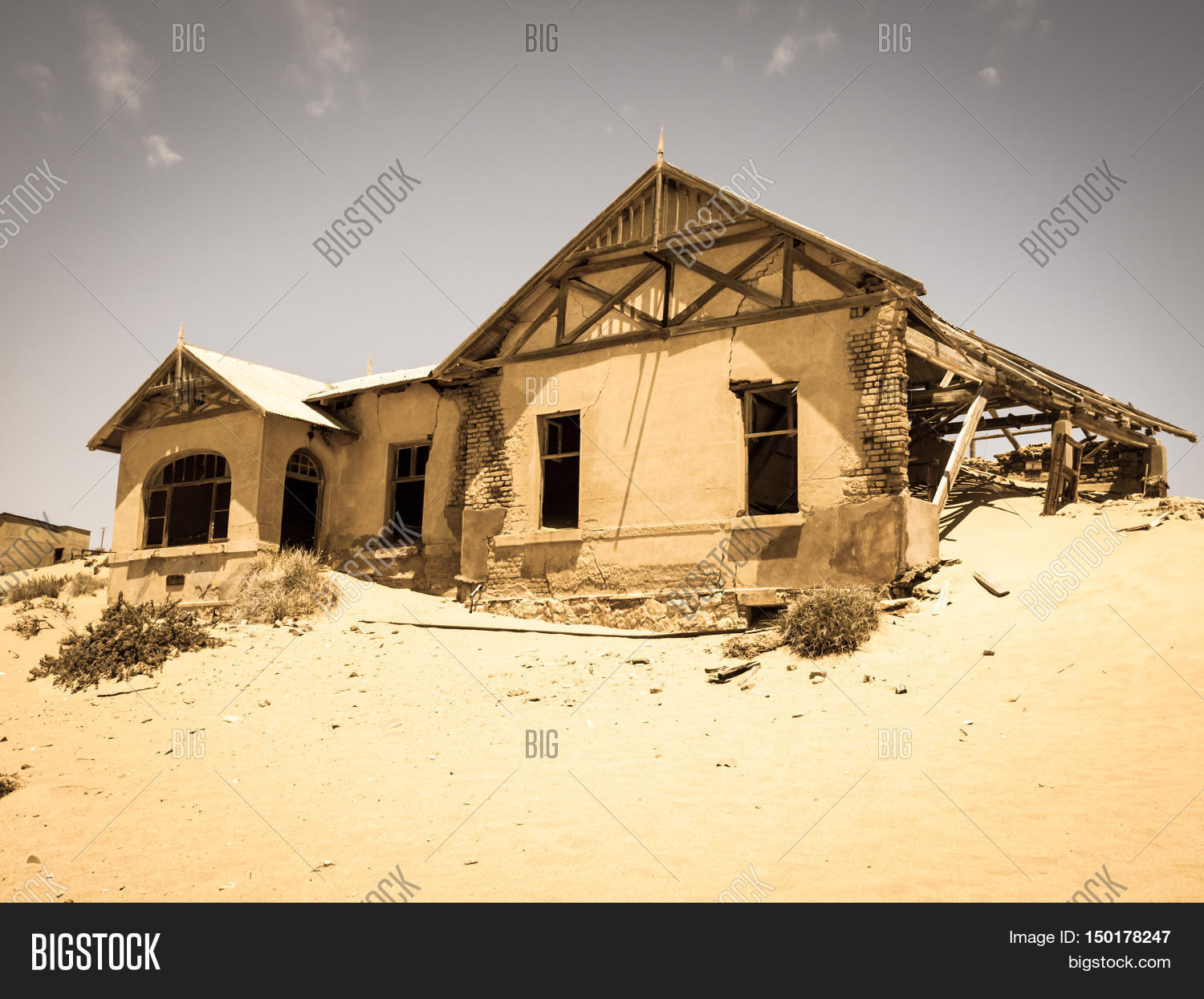 Ghost Buildings Old Image & Photo (Free Trial) | Bigstock