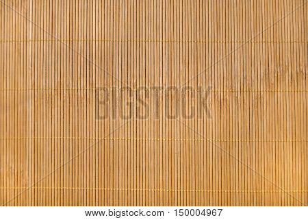 Bamboo mat as abstract texture. Top view
