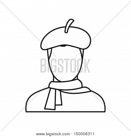 Painter icon in outline style isolated on white background. Drawing and art symbol vector illustration
