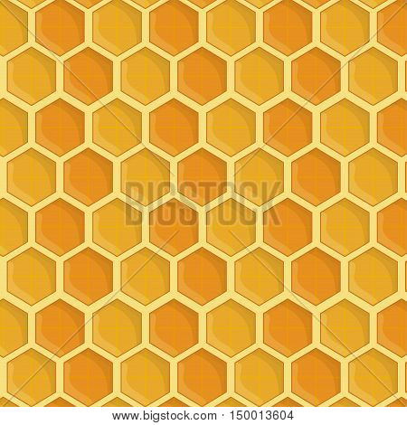 Honeycomb background. Honey healthy and organic food theme. Colorful design. Vector illustration