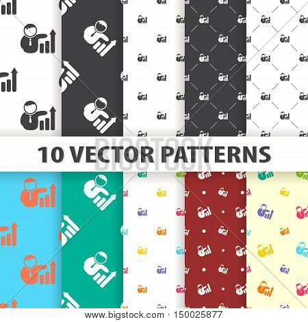 Illustration Of Personal  Icon In Pattern Style Isolated On Background. Stock Vector Illustration.