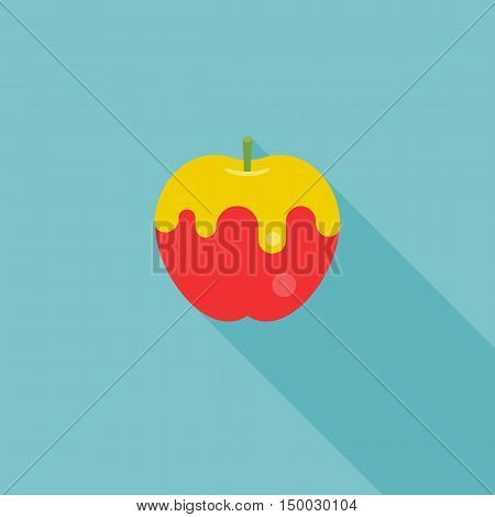 icon of apple with honey, forJewish's new year, rosh hashana, shana tova