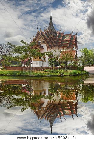 Replica Of Dusit Maha Prasat Palace, Ancient Cityf Bangkok