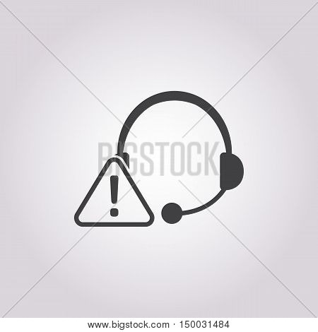 Illustration Of  Call Center Icon In Pattern Style Isolated On Background. Stock Vector Illustration
