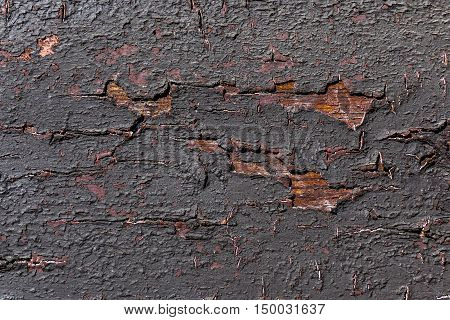 Weathered black painted wood in Cochem Germany.