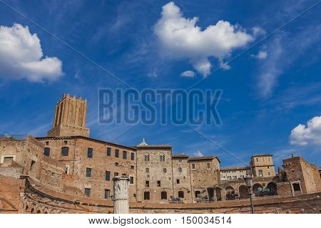 Detail Of The Trajan Market In Rome