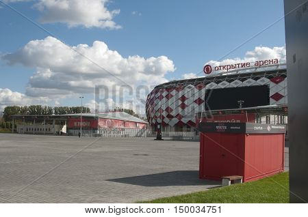 MOSCOW RUSSIA OCTOBER 01. 2016: - Otkrytiye Arena Spartak football club stadium included in the Russia's bid for the 2018 FIFA World Cup and 2017 FIFA Confederations Cup.