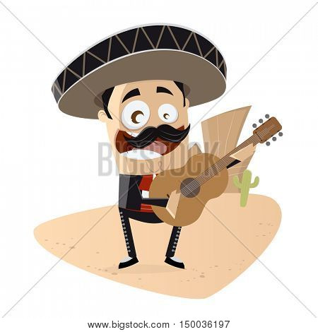 clipart of a mexican mariachi singer