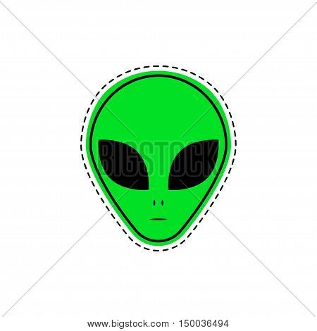 Alien patch. Vector illustration. Comic creative fashion Alien isolated on white background.