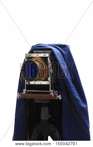old studio camera on a white background
