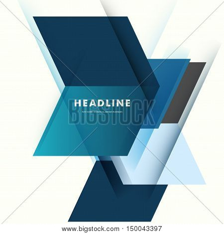Abstract business background with technology lines. Template brochure design. Geometry modern design.