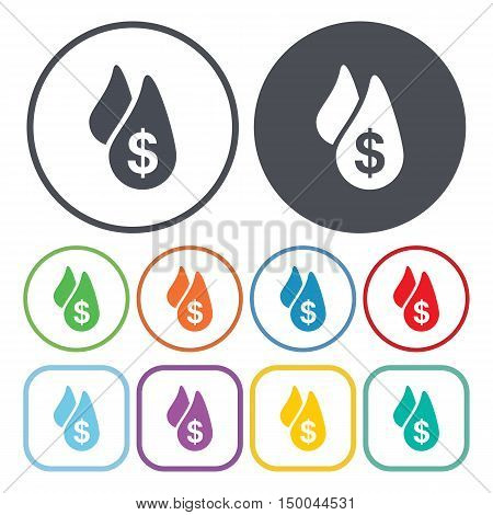 vector illustration of  drop icon in simple style isolated on background. Stock vector symbol.
