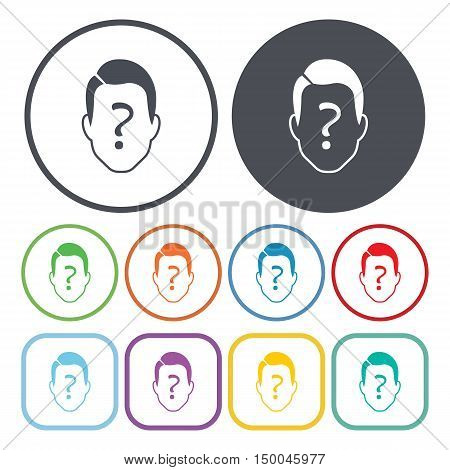 vector illustration of person icon in simple style isolated on background. Stock vector symbol.