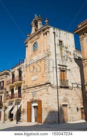 Clocktower of Acquaviva delle fonti. Puglia. Italy.