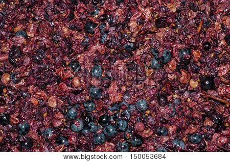 Crushed Grapes For Wine Background