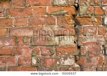 Old Wall From A Red Brick.
