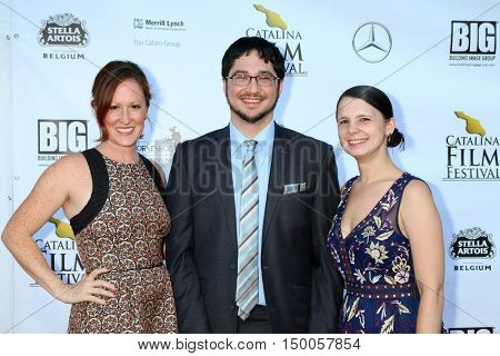 LOS ANGELES - SEP 30:  Stacey Moseley, Reed Shusterman, Katina Meers at the Catalina Film Festival - Friday at the Casino on September 30, 2016 in Avalon, Catalina Island, CA
