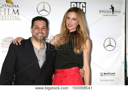 LOS ANGELES - SEP 30:  Ron Truppa, Anne Dudek at the catalina Film Festival - Friday at the Casino on September 30, 2016 in Avalon, catalina Island, CA