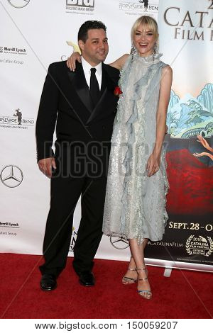 LOS ANGELES - OCT 1:  Ron Truppa, Jaime King at the catalina Film Festival - Saturday at the Casino on October 1, 2016 in Avalon, catalina Island, CA