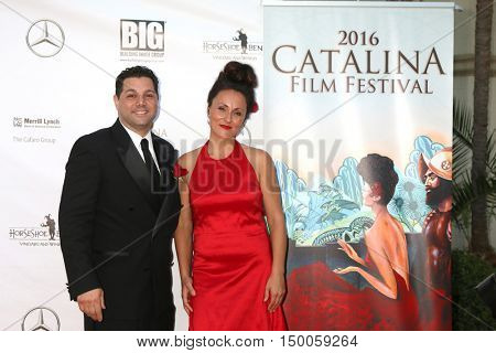 LOS ANGELES - OCT 1:  Ron Truppa, Porschia Denning at the catalina Film Festival - Saturday at the Casino on October 1, 2016 in Avalon, catalina Island, CA