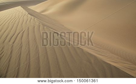 Massive sand dunes of the Empty Quarter desert covering large area in UAE KSA and Oman