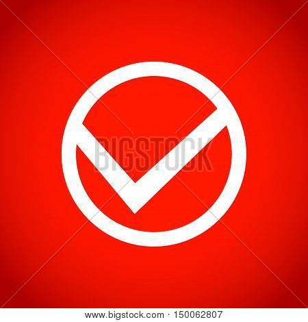 check icon stock vector illustration flat design