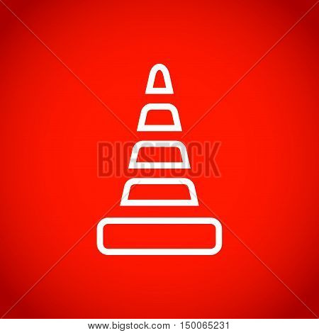 cone icon stock vector illustration flat design