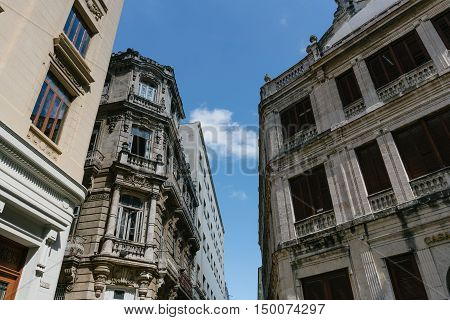 View of Havana and its historic buildings, Cuba