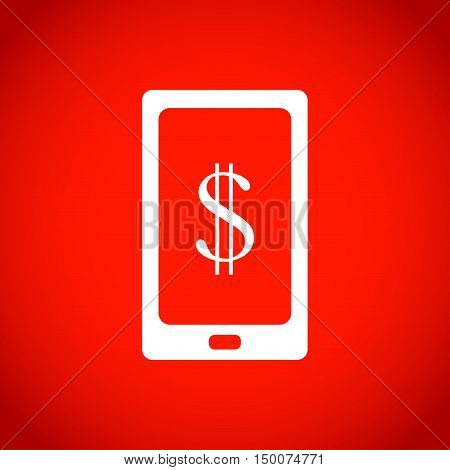 Smart phone with money dollars stock vector illustration flat design