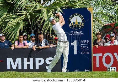 CHONBURI - DECEMBER 13 : Martin Kaymer of Germany player in Thailand Golf Championship 2015 at Amata Spring Country Club on December 13 2015 in Chonburi Thailand.